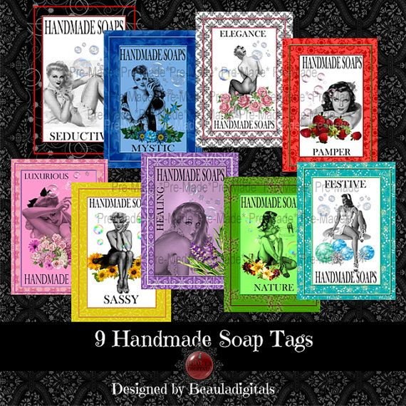 Soap Tags  Digital Scrapbook  Instant Download by Beauladigitals