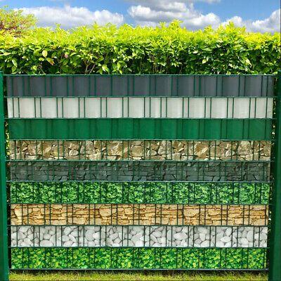 Bedruckter Sichtschutzstreifen für Doppelstabmatten Zaun