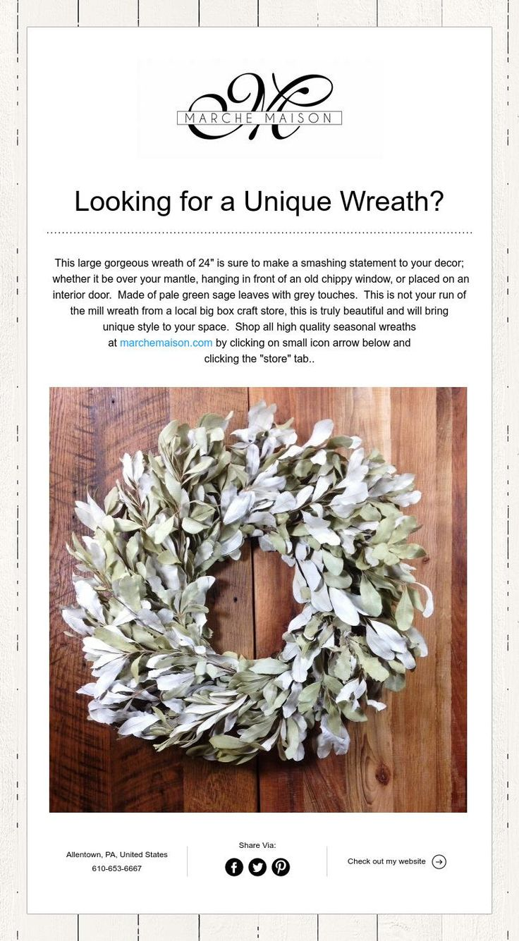 Looking for a Unique Wreath?