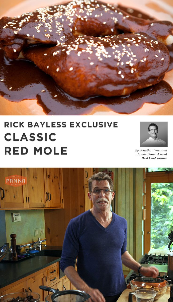 Celebrity Chef Rick Bayless teaches how to make the perfect and classic Mexican Red Mole