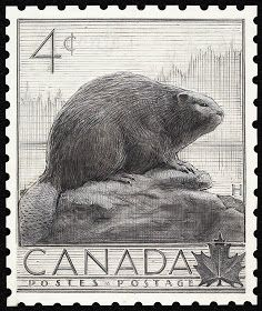 Canada 4¢ Beaver stamp 1954 | National Archives of Canada