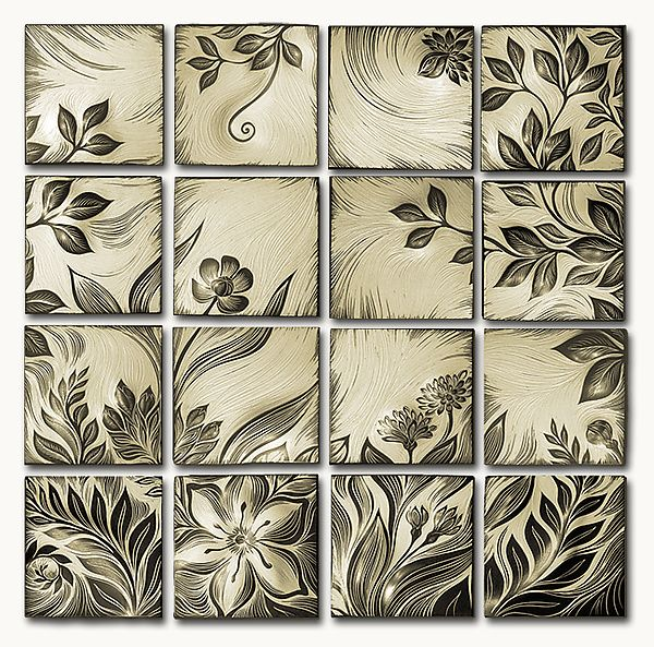 Botanical by Natalie Blake: Ceramic Wall Art available at www.artfulhome.com