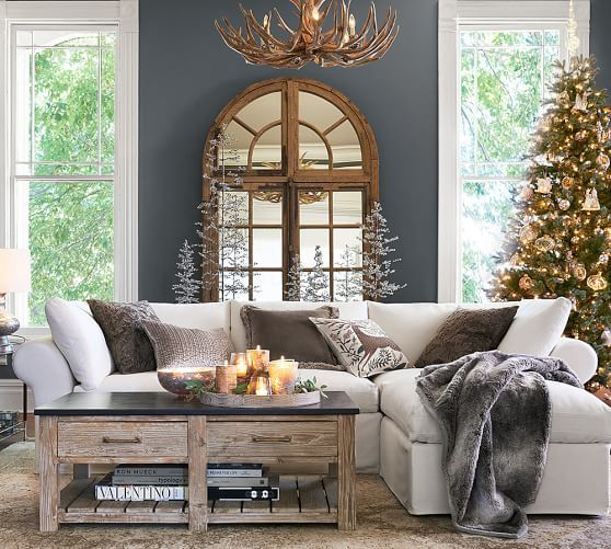 Faux Antler Chandelier | Pottery Barn  Holiday/Christmas decorating idea