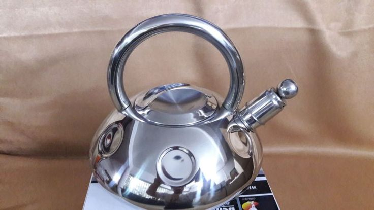 FREE SHIPPING Water kettle pot whistling SS#304 stainless steel gas/induction cooker thickening honking teapot 3 litre