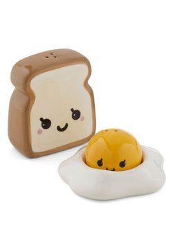Porta sale e pepe a forma di toast e uovo di Modcloth