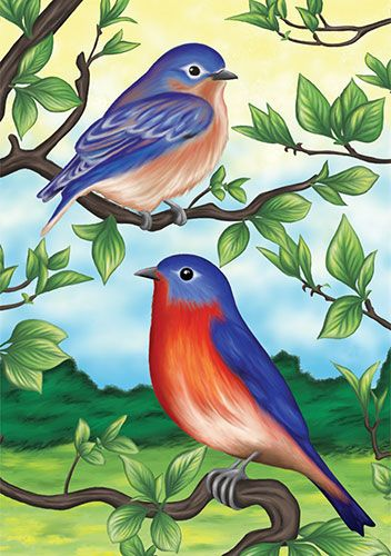 garden house flags. Accent Flag - Bluebirds Decorative At Garden House Flags GardenHouseFlags S