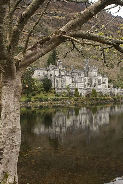 Kylemore Abbey Ireland- it was gorgeous- the picture doesn't nearly do it justice