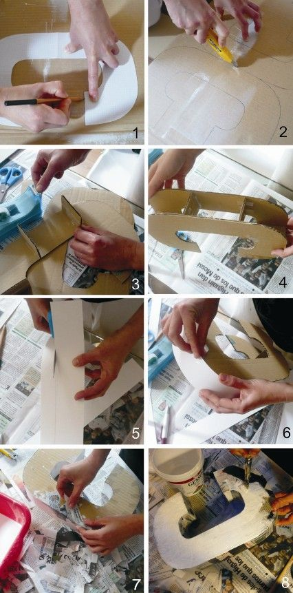 how to make paper mache decorative letters