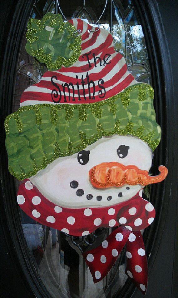 Snowman for the door