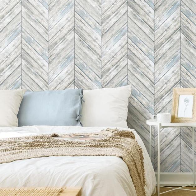 Herringbone Wood Boards Peel And Stick Wallpaper Herringbone Wood Wood Wallpaper Wood Accent Wall