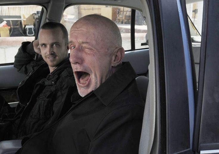 Breaking Bad. Aaron Paul and Mike.