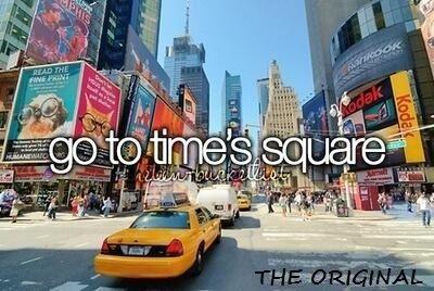 Times Square Bucket List