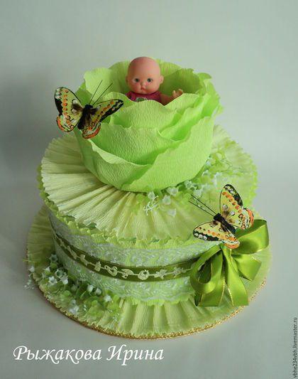 Подарки для новорожденных, ручной работы. Ярмарка Мастеров - ручная работа. Купить Торт из памперсов 2. Handmade. Памперсы, подарок