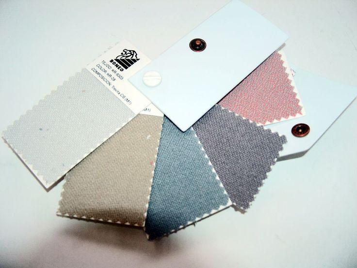 Pantoneras de muestras de telas