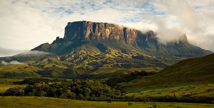 Mount Roraima in Venezuela, Brazil, and Guyana: The tabletop mountains are considered some of the oldest geological formations on Earth, dating back to roughly 2 million years ago. The mountain also serves as a triple border for Brazil, Guyana, and Venezuela.