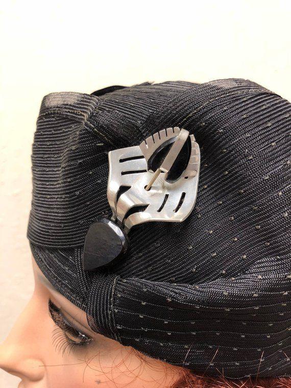 1920 S Cloche Hat Flapper Art Deco 20s Hat Black With Etsy Cloche Hat Art Deco 1920s