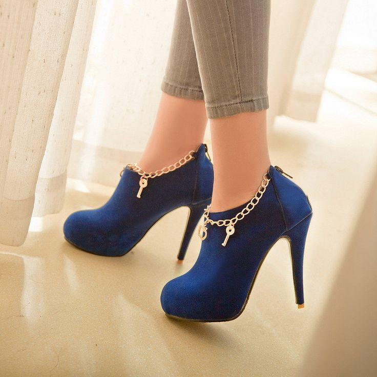 Charmed Suede High Heel Booties Shoes