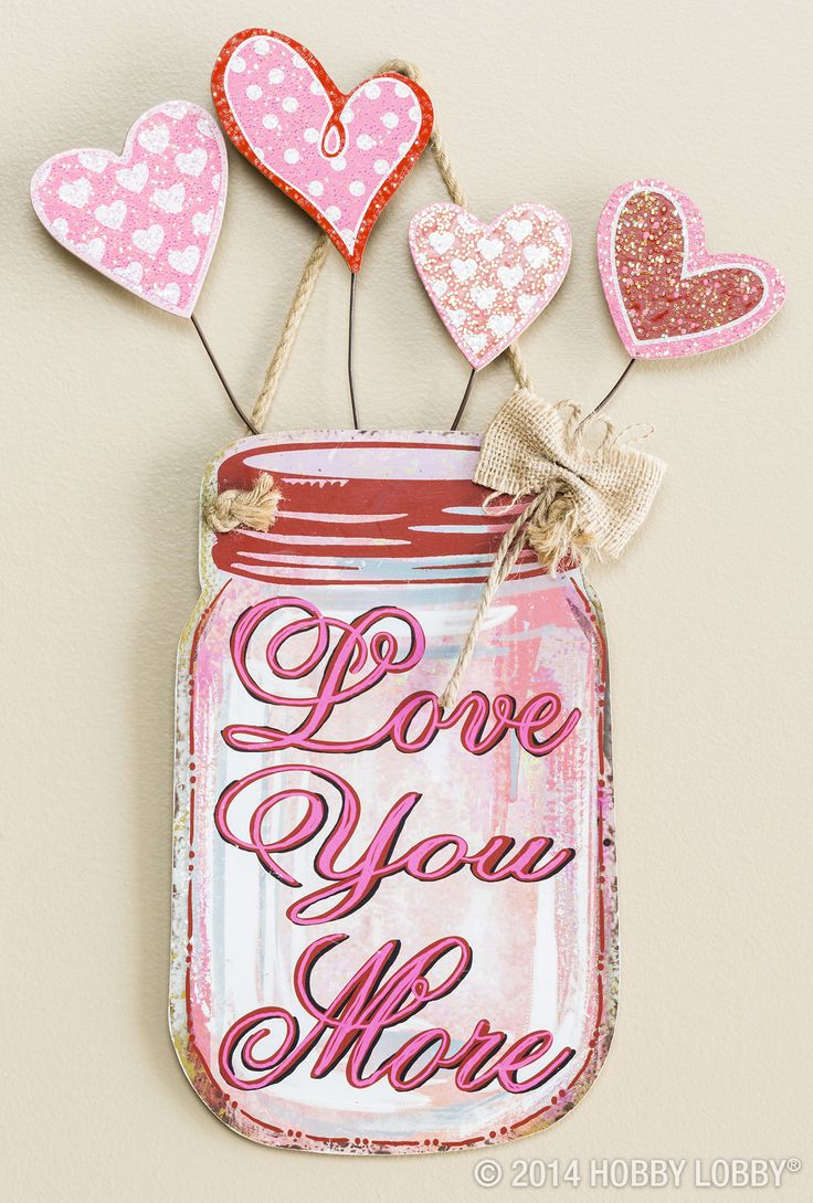 """Say """"I love you more!' with sweet-as-sugar accent pieces. (Sold in stores only.)"""