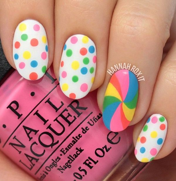 152 Best Images About Polka Dots Nail Art On Pinterest