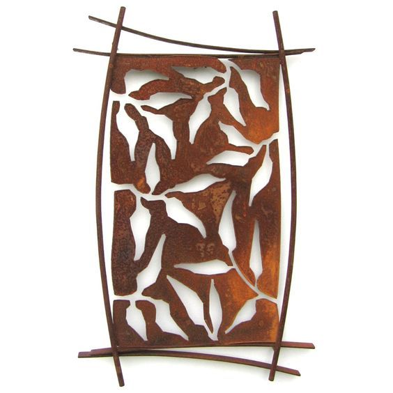 Metallic Evolution Outdoor Steel Shield Wall Art-Hilo SHD-01, Artistic Artisan Sculpture