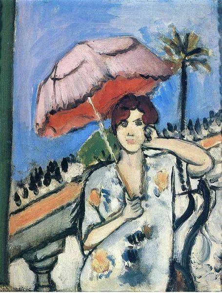 Woman With Umbrella Henri Matisse Style: Post-Impressionism Genre: portrait