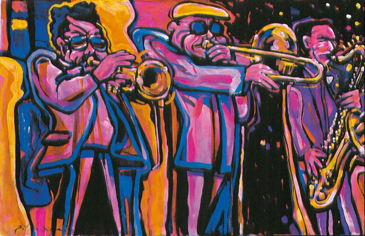 Jazz Art Paintings / Jazz Trio / acrylics on canvas / 160x120 cm. / Sold