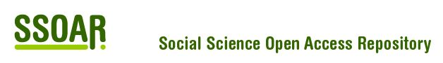 Social Science Open Access Repository: Welcome to the Social Science Open Access Repository (SSOAR)! On our website you will find a steadily growing collection of full-text social-science documents which you can access freely.