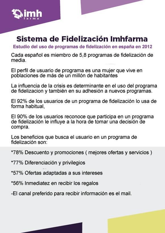 Y si cada español es miembro de 5.8 programas de fidelización, por qué no le ofreces ser miembro del de tu farmacia?
