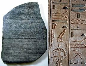 """http://www.laproductividad.com La Piedra Rosetta se descubrió en Egipto en 1799. Fue un soldado frances, Pierre-François Bouchard, que mientras cavaba una trinchera, topó con la Piedra. Los franceses habían iniciado la """"campaña francesa en Egipto"""" ya que Napoleón comenzó una guerra con los ingleses por esos lares para cerrarles sus comunicaciones con la India. Pero, ¿qué tenía de especial la piedra?"""