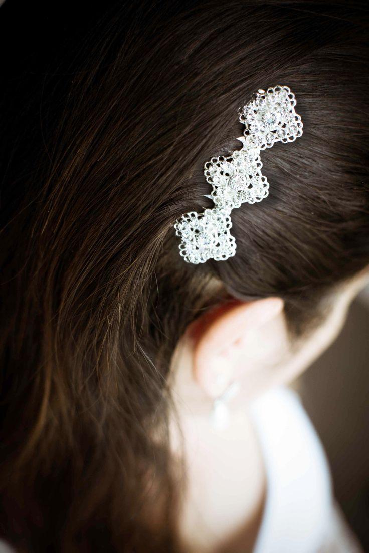 Hair comb made with Swarovski Filigrees.