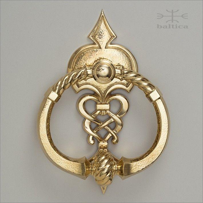 Telluride knocker - polished brass - Custom Door Hardware