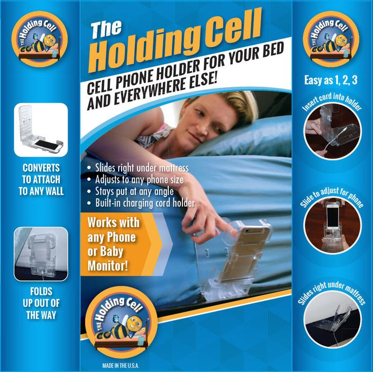 New Product Launching to make your life easier! Cell Phone Holder for your Bed or Anwhere Else!  It has a Built-in Charging Cord Holder! One night and you will be hooked! www.MyHoldingCell.com