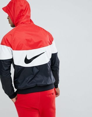 59dc5cee8626 Nike Windbreaker With Back Print In Red AJ1396-658
