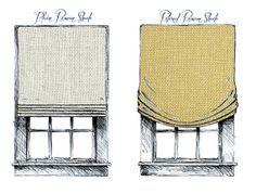 roman shade flat fold vs casual pleat outside mount