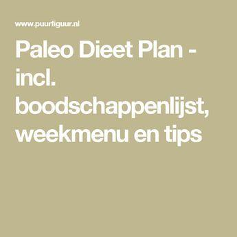 Paleo Dieet Plan - incl. boodschappenlijst, weekmenu en tips