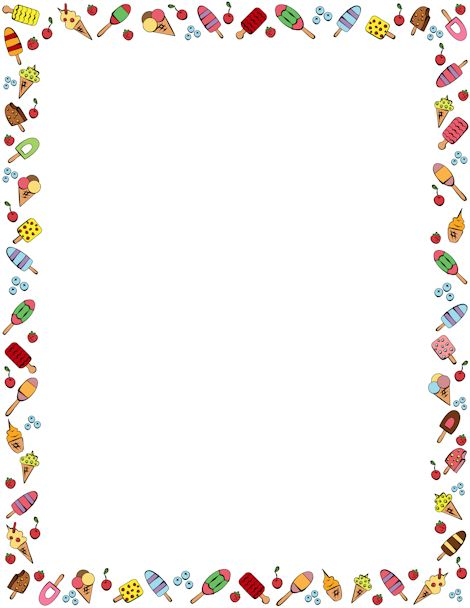 ice cream clipart border - photo #1