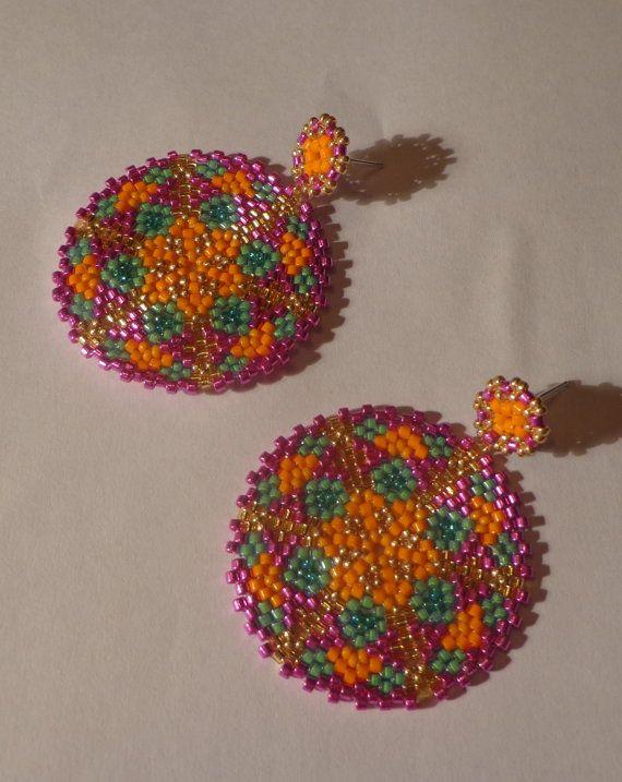 Tutorial Orecchini pendenti Samba  Mandala  Tecnica