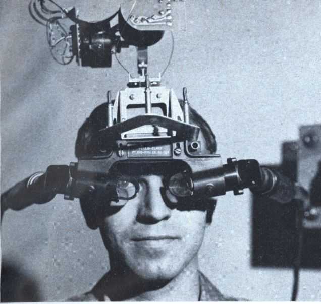 Most Wearable Technology -  in the 1960s,  the first computer heads-up display, a very early virtual-reality-type helmet and goggles, called the Sword of Damocles.