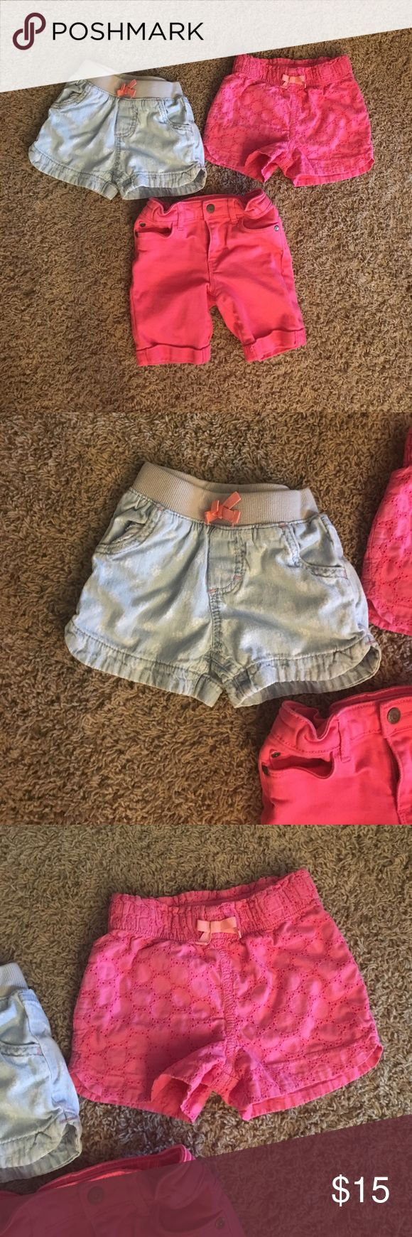 4T shorts bundle 3 pairs of shorts all size 4 Toddler 1 pink denim 2 Cherokee brand and 1 Arizona jeans co. GUC the pink denim was only worn once the others have had more use Bottoms Shorts