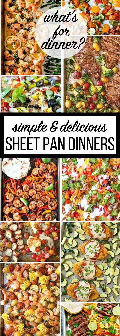 These Sheet Pan Dinner Recipes are so easy and delicious. The sheet pan dinner recipes are healthy, full of flavor and easy to clean up.