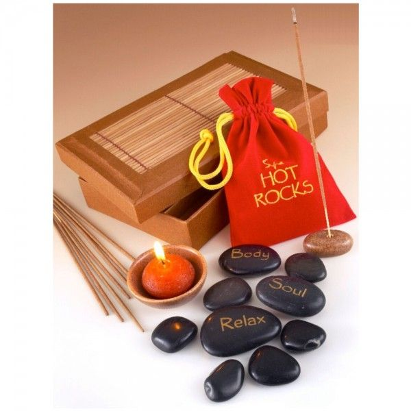 Stone Therapy is the application of stones in a thermo-therapeutic massage. This is an age old therapy dating back 5000 years.  When heated, the rocks penetrate the muscles and ease tension. The cool stones soothe inflammation.  When hot and cold are alternated, the circulation is stimulated, thereby assisting the body in self-healing.  Ideal gift for your partner or simply treat each other to a romantic sensual night of therapy!!! https://www.gimmethatnow.com/spa-hot-rocks-gift-pack