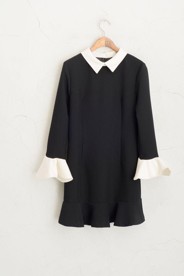Olive - Trumpet Sleeve Combi Colour Dress, Black, £80.00 (http://www.oliveclothing.com/p-oliveunique-20160115-013-black-trumpet-sleeve-combi-colour-dress-black)