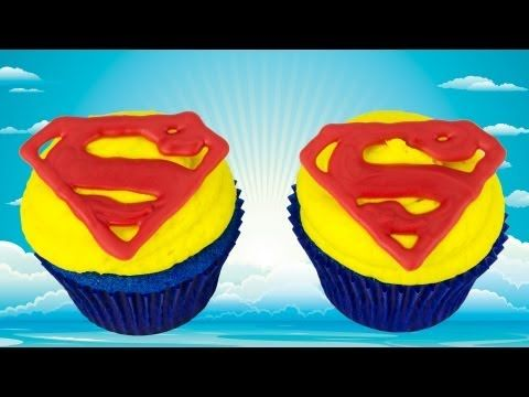 ▶ Superman Cupcakes: Man of Steel by Cookies Cupcakes and Cardio - YouTube