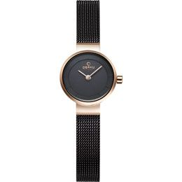 OBAKU Spire - walnut // rose gold and brown stainless steel watch