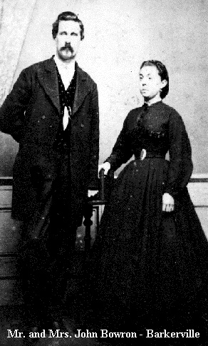 Mr. and Mrs. John Bowron Gold Commisioner, Barkerville