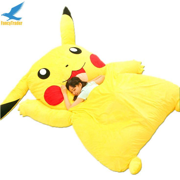 Fancytrader Japan Anime Stuffed Giant Pikachu Plush Bed Sofa Mattress Tatami Pad Bedding Set Mat Memory Foam FT90267
