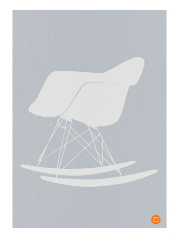 Eames Rocking Chair by NaxArt. Premium Poster from Art.com