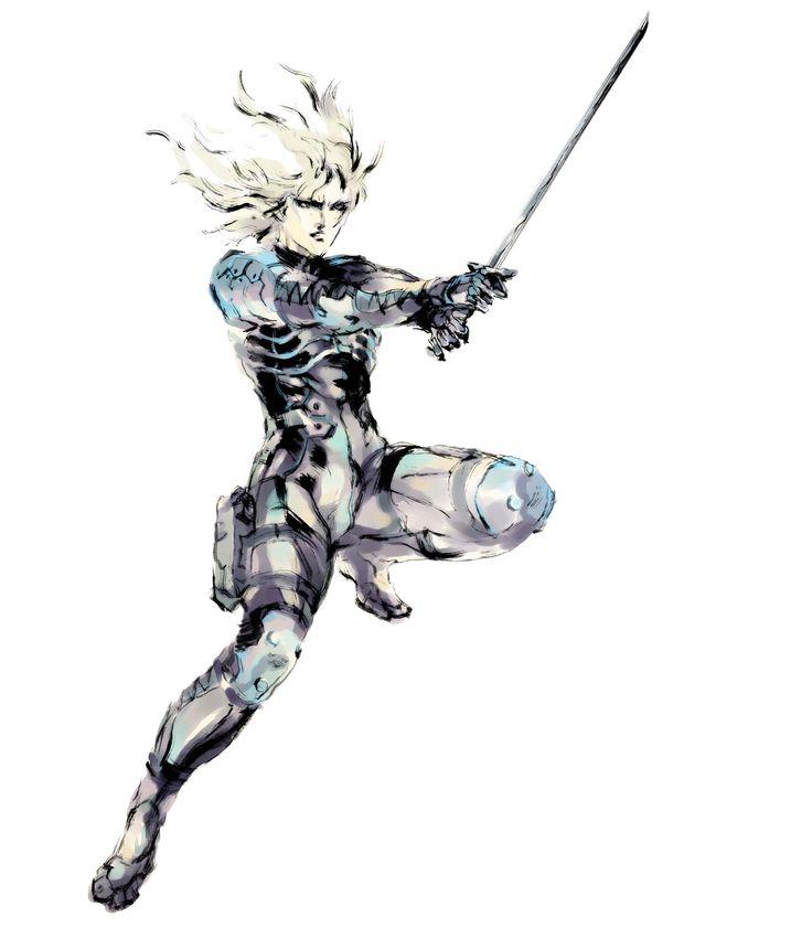 Raiden by Yoji Shinkawa (MGS 2 Conceptual Art)