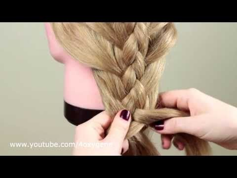 Косичка из 5 прядей. Плетение внутрь. Braid of 5 strands (inner braid) - YouTube