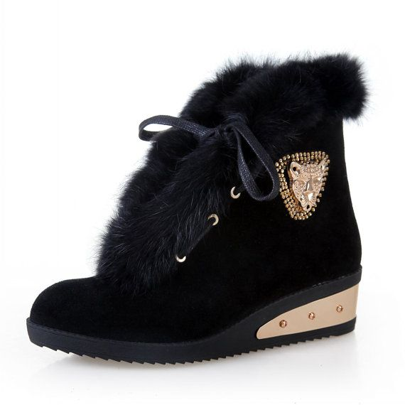 Handmade women boots 2014 winter warm cony hair by LadiesShoes, $66.00